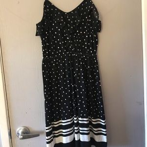 Black and white dress ELLE